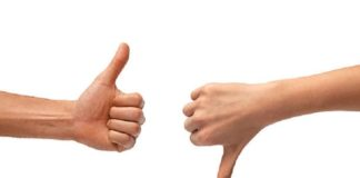 Thumb indicates total your personality!